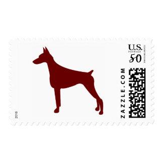 Doberman Pinscher (Red) Postage