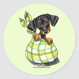 Doberman Pinscher Sack Puppy Classic Round Sticker