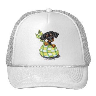 Doberman Pinscher Sack Puppy Trucker Hat