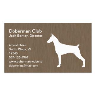 Doberman Pinscher Silhouette Business Card