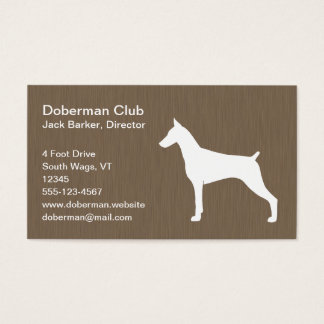 Doberman Pinscher Silhouette Business Card