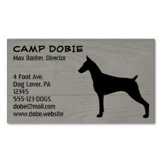 Doberman Pinscher Silhouette Business Card Magnet
