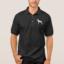 Doberman Pinscher Silhouette Polo Shirt