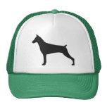 Doberman Pinscher Silhouette Trucker Hat