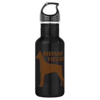 Doberman Pinscher Stainless Steel Water Bottle
