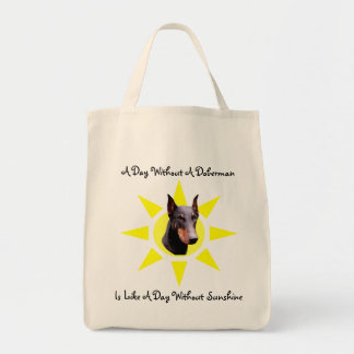 Doberman Pinscher Sunshine Dog Tote Bag
