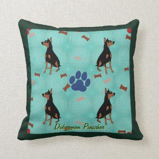 Doberman Pinscher Throw Pillow