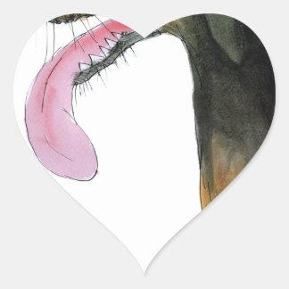 Doberman Pinscher, tony fernandes Heart Sticker