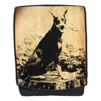 Doberman Pinscher Vintage Old Photo Backpack