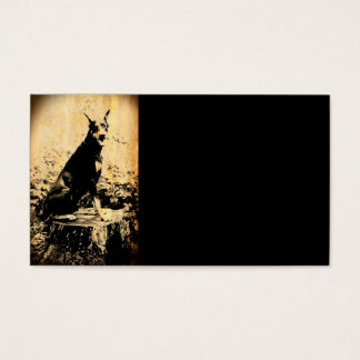 Doberman Pinscher Vintage Old Photo Business Card