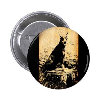 Doberman Pinscher Vintage Old Photo 2 Inch Round Button