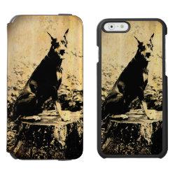 Incipio Watson™ iPhone 6 Wallet Case with Doberman Pinscher Phone Cases design