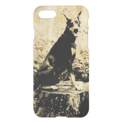 Uncommon iPhone 7 Clearly™ Deflector Case with Doberman Pinscher Phone Cases design