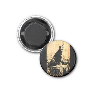 Doberman Pinscher Vintage Old Photo Magnet