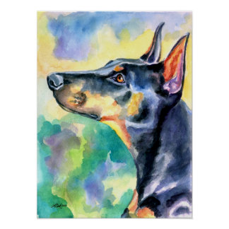 Doberman Pinscher Wall Print