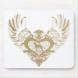 Doberman Pinscher Winged Heart Mouse Mat