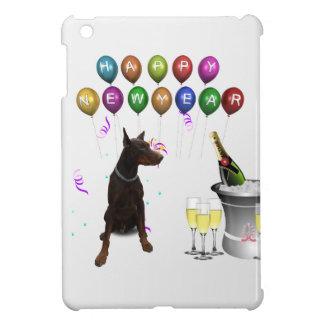 Doberman Pinscher wishing Happy New Year 2016 iPad Mini Cover