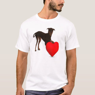 Doberman Pinscher With Heart T-Shirt