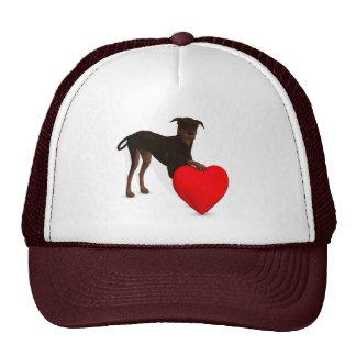 Doberman Pinscher With Heart Trucker Hat