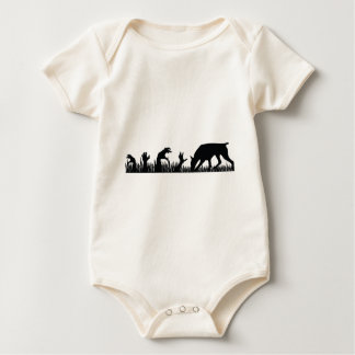 Doberman Pinscher Zombie Arm Baby Bodysuit