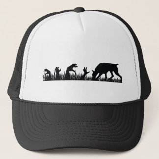 Doberman Pinscher Zombie Arm Trucker Hat