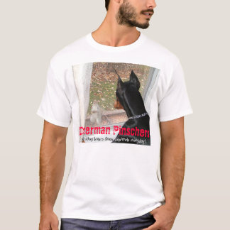 Doberman Pinschers Protecting Homes from Squirrels T-Shirt