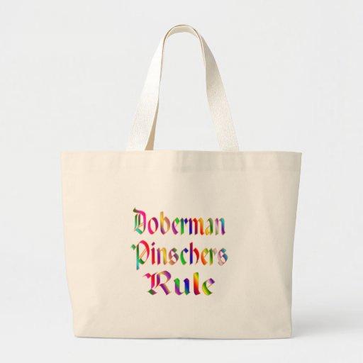 Doberman Pinschers Rule Jumbo Tote Bag