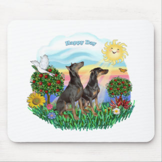 Doberman Pinschers (two) Mouse Pad