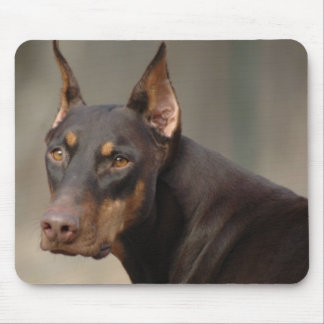 Doberman Protection Mouse Pad