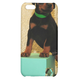 Doberman puppy from Tiffanys iphone case Cover For iPhone 5C