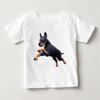Doberman Puppy Leaping Baby T-Shirt