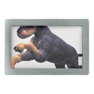 Doberman Puppy Leaping Belt Buckle