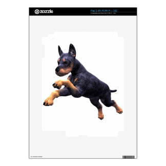 Doberman Puppy Leaping Decal For iPad 2