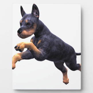 Doberman Puppy Leaping Plaque
