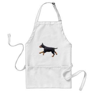 Doberman Puppy Running Adult Apron