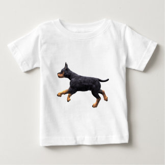 Doberman Puppy Running Baby T-Shirt