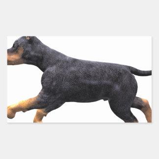 Doberman Puppy Running Rectangular Sticker