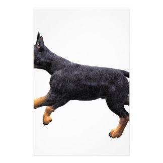 Doberman Puppy Running Stationery