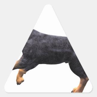 Doberman Puppy Running Triangle Sticker