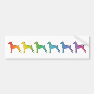 Doberman Rainbow gifts Bumper Sticker