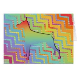 Doberman Rainbow gifts Card