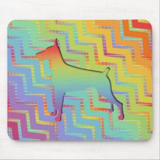 Doberman Rainbow gifts Mousepads