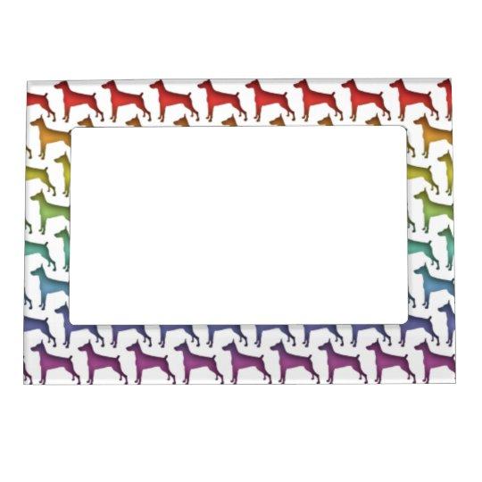 Doberman Rainbow Magnetic Frame