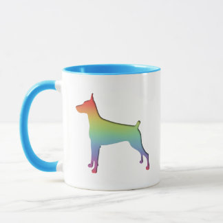 Doberman Rainbow Mug