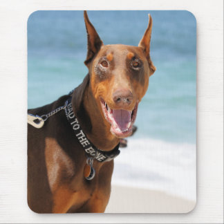 Doberman - Red - Bad to the Bone Mouse Pad