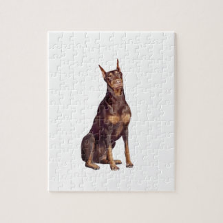 Doberman (red sit) puzzles