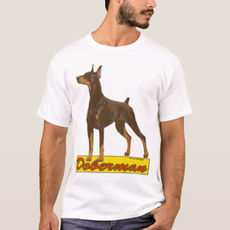 Doberman- red T-Shirt