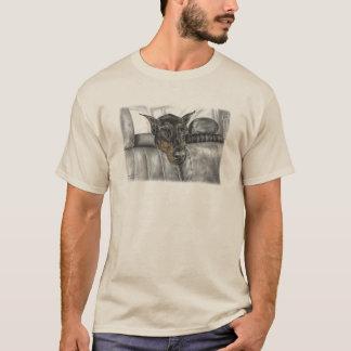 Doberman Riding in Car T-Shirt