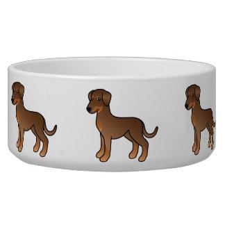 Doberman rojo/perro alemán del Pinscher Comedero Para Mascota