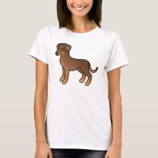 Doberman rojo/perro alemán del Pinscher Playera